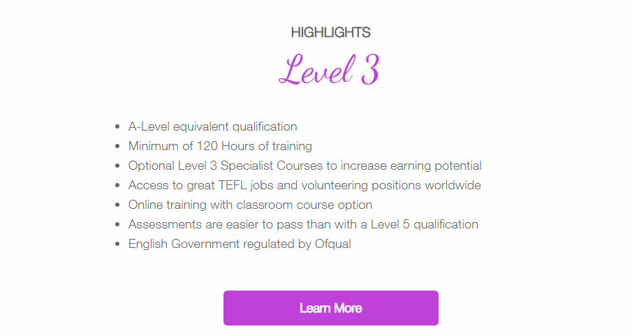 TELF Review - Level 3 Course