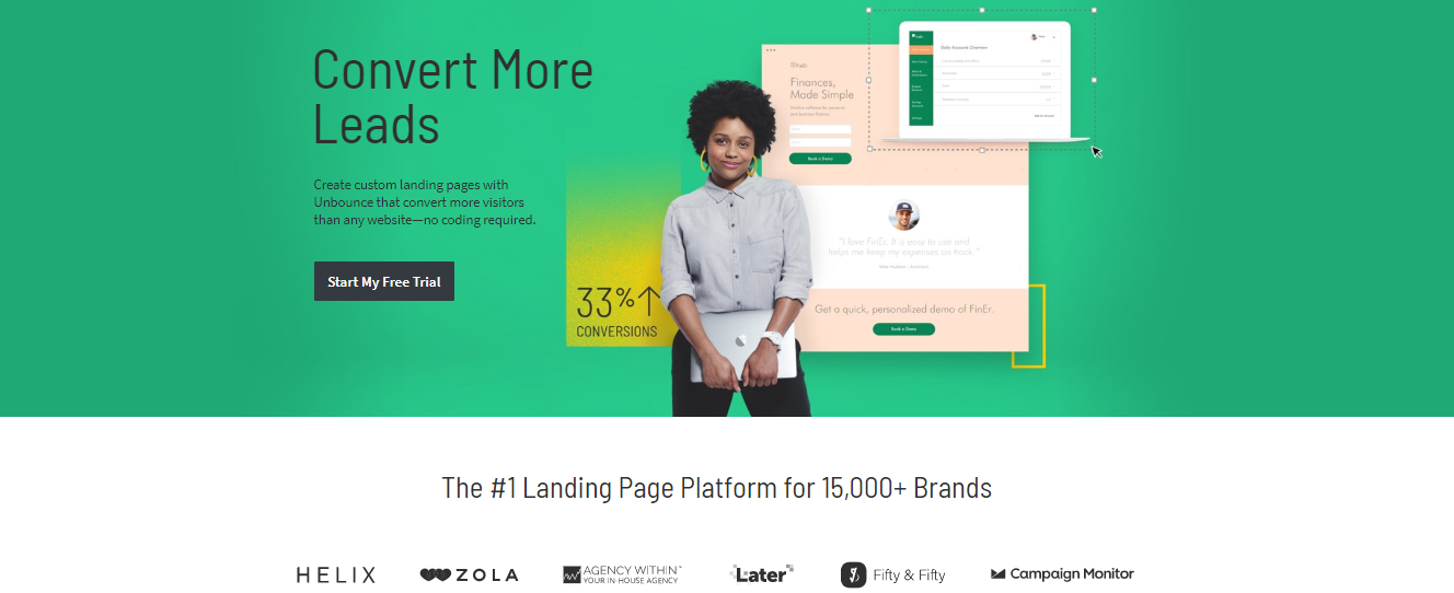 Unbounce Vs Leadpages - home info