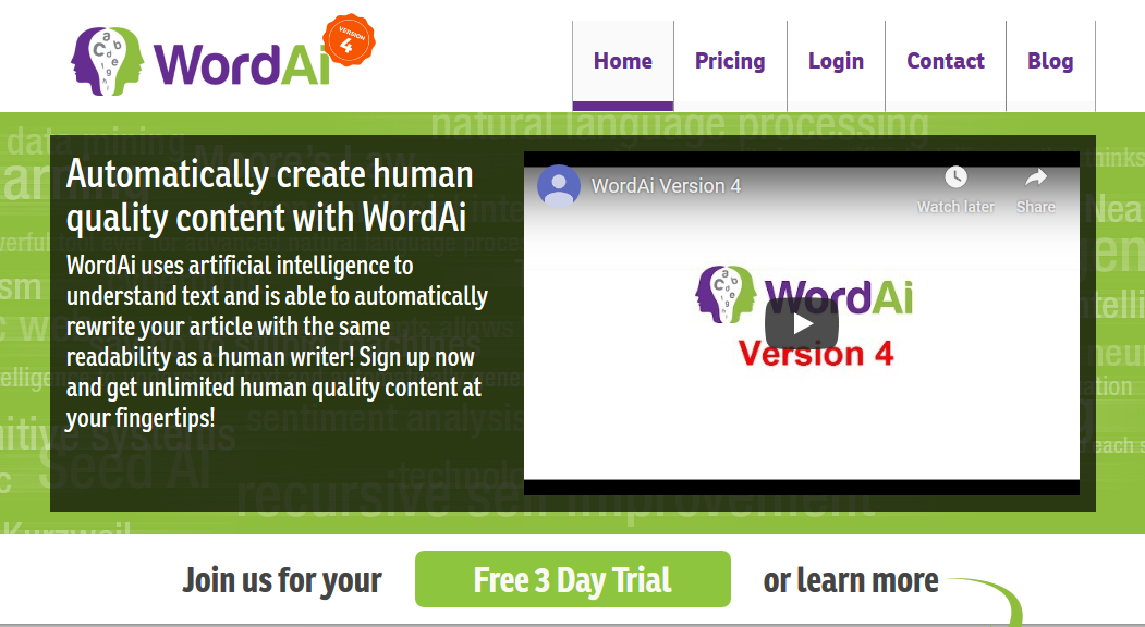 WordAi Review- The Smartest Article Rewriter Ever