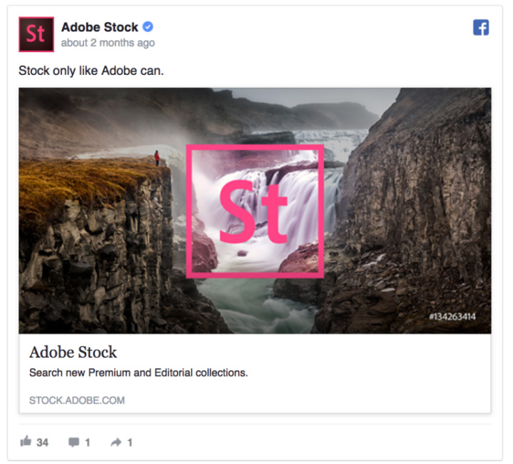 Facebook Ad - Adobe Stock