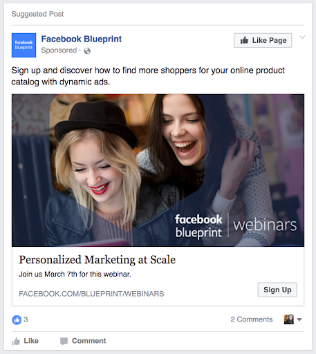 Facebook Ad - Ad Blueprint