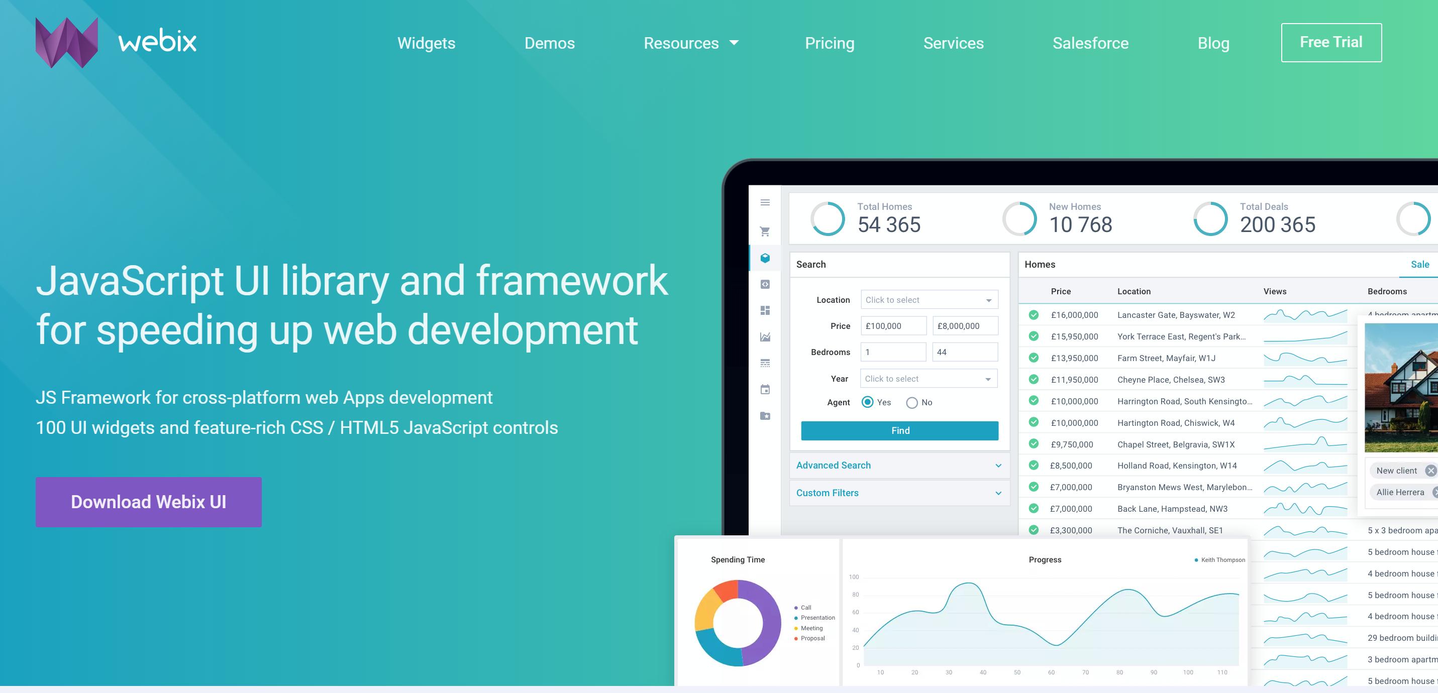 webix review javascript