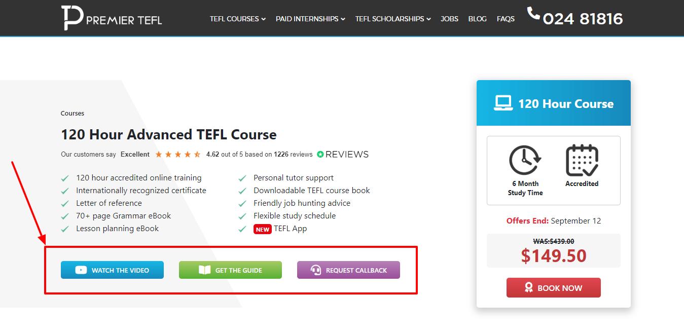 120 Hour Advanced TEFL Course - Premier TEFL Review