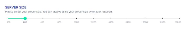 Cloudways Review- Server Size