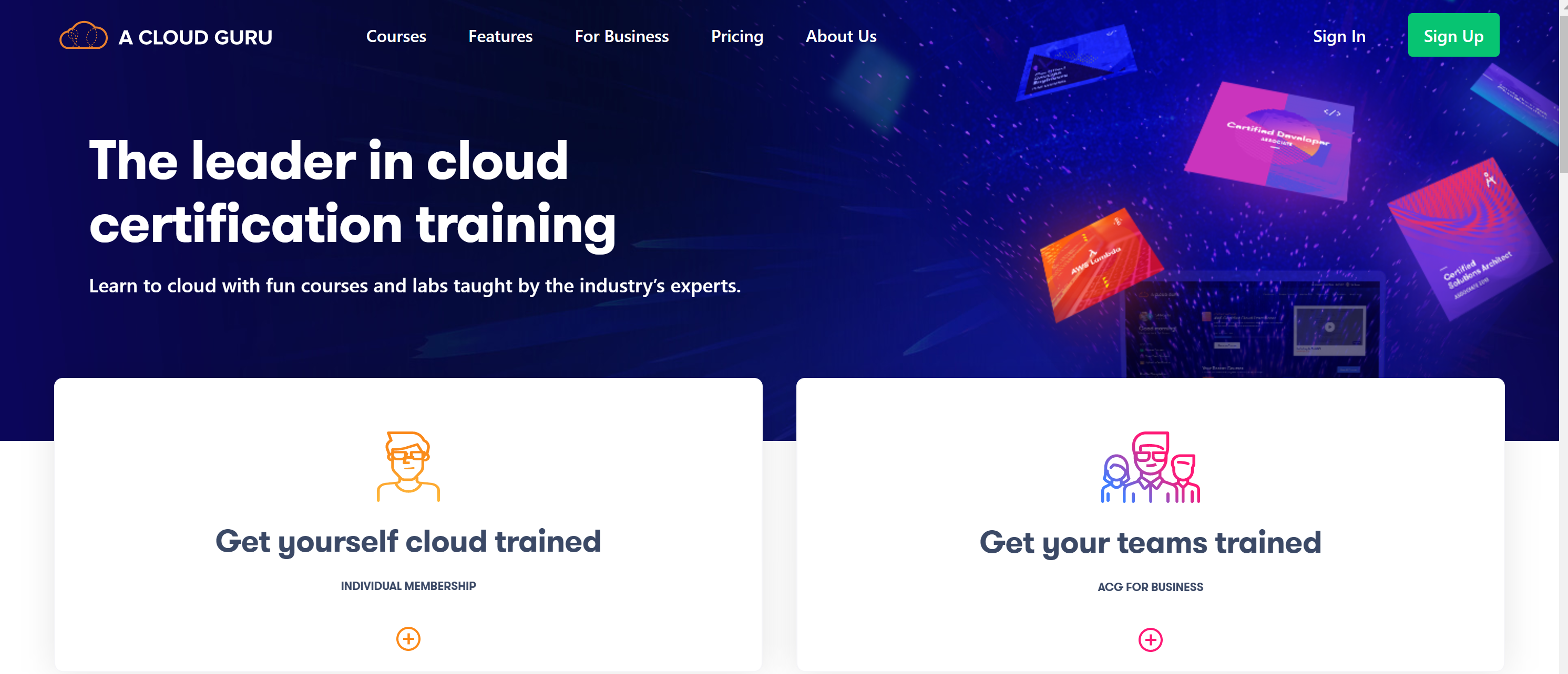 A Cloud guru AWS Lambda courses