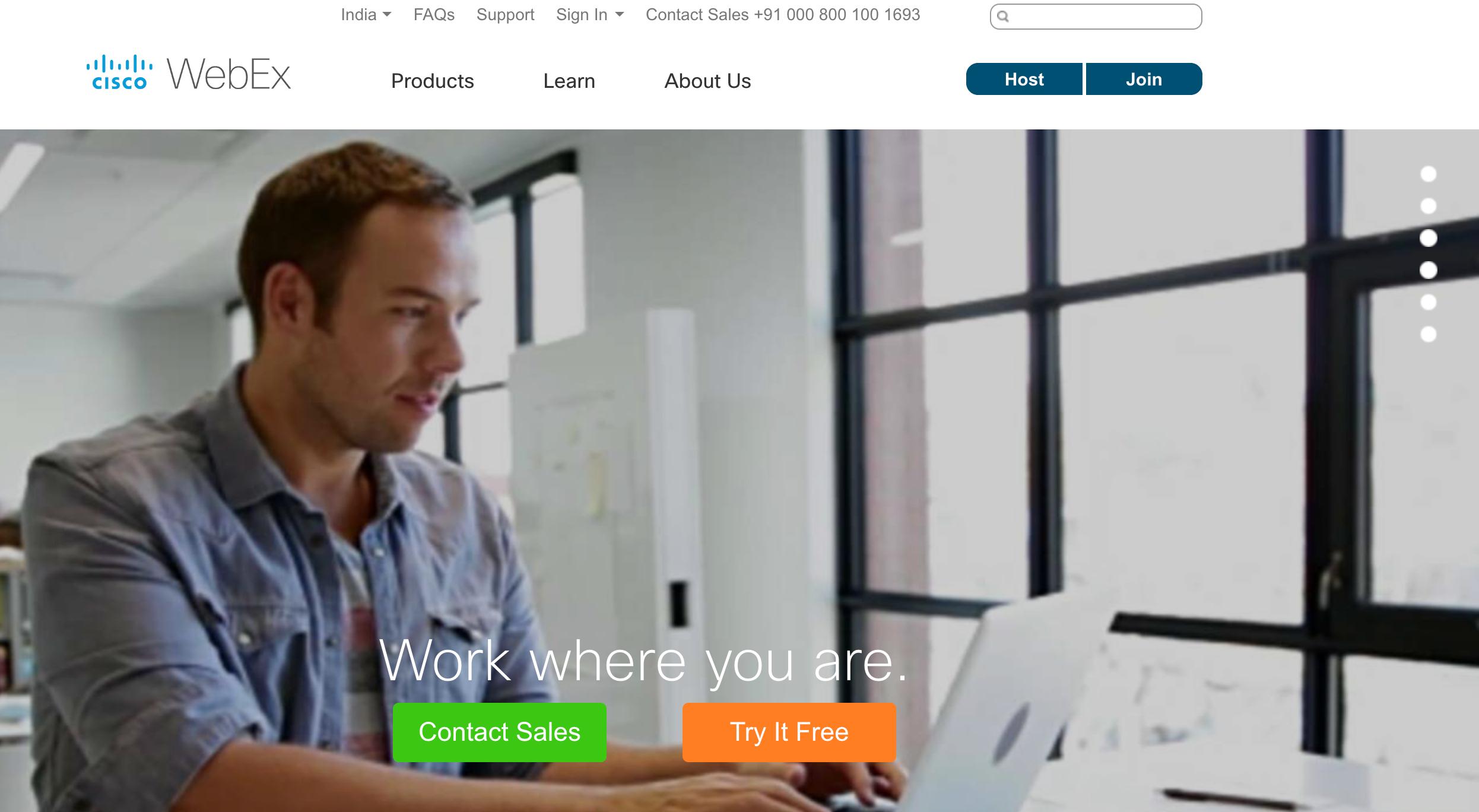 Cisco WebEx — Video Conferencing