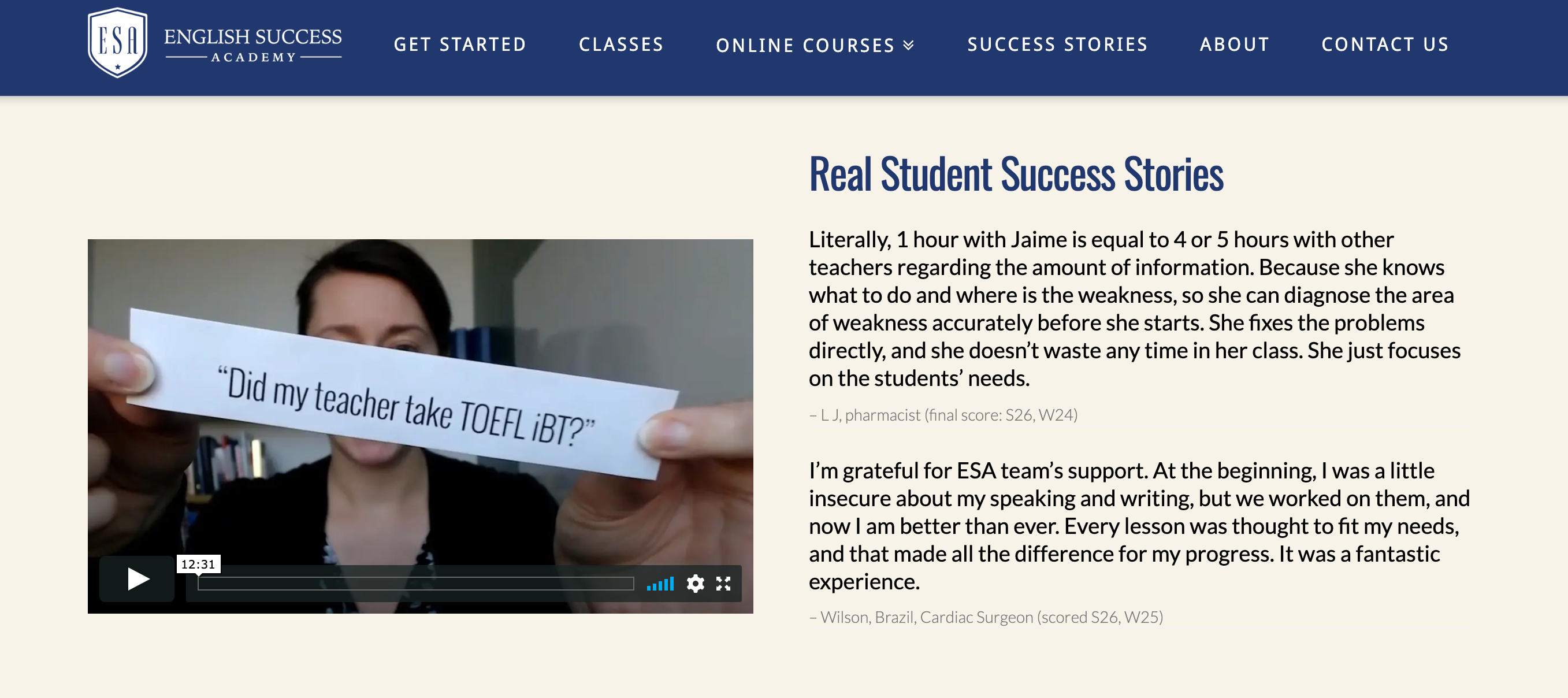 English Success Academy- TOEFL