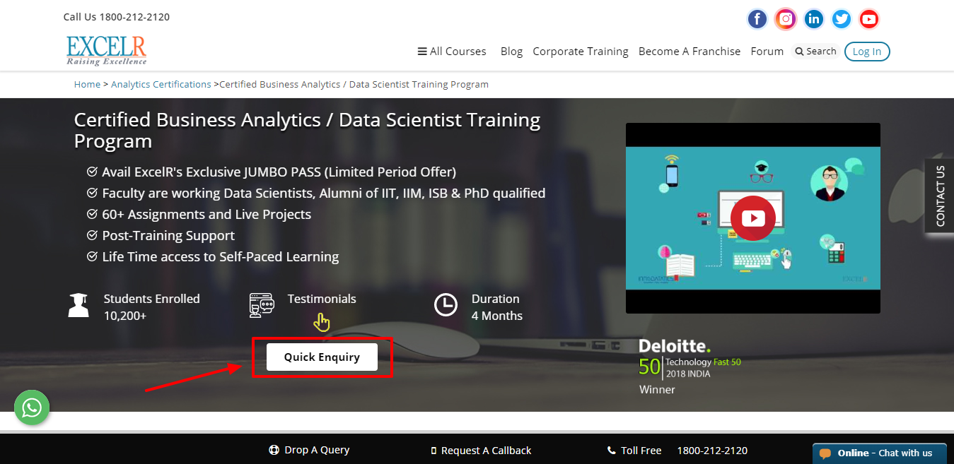 Excelr Review - Data Scientist