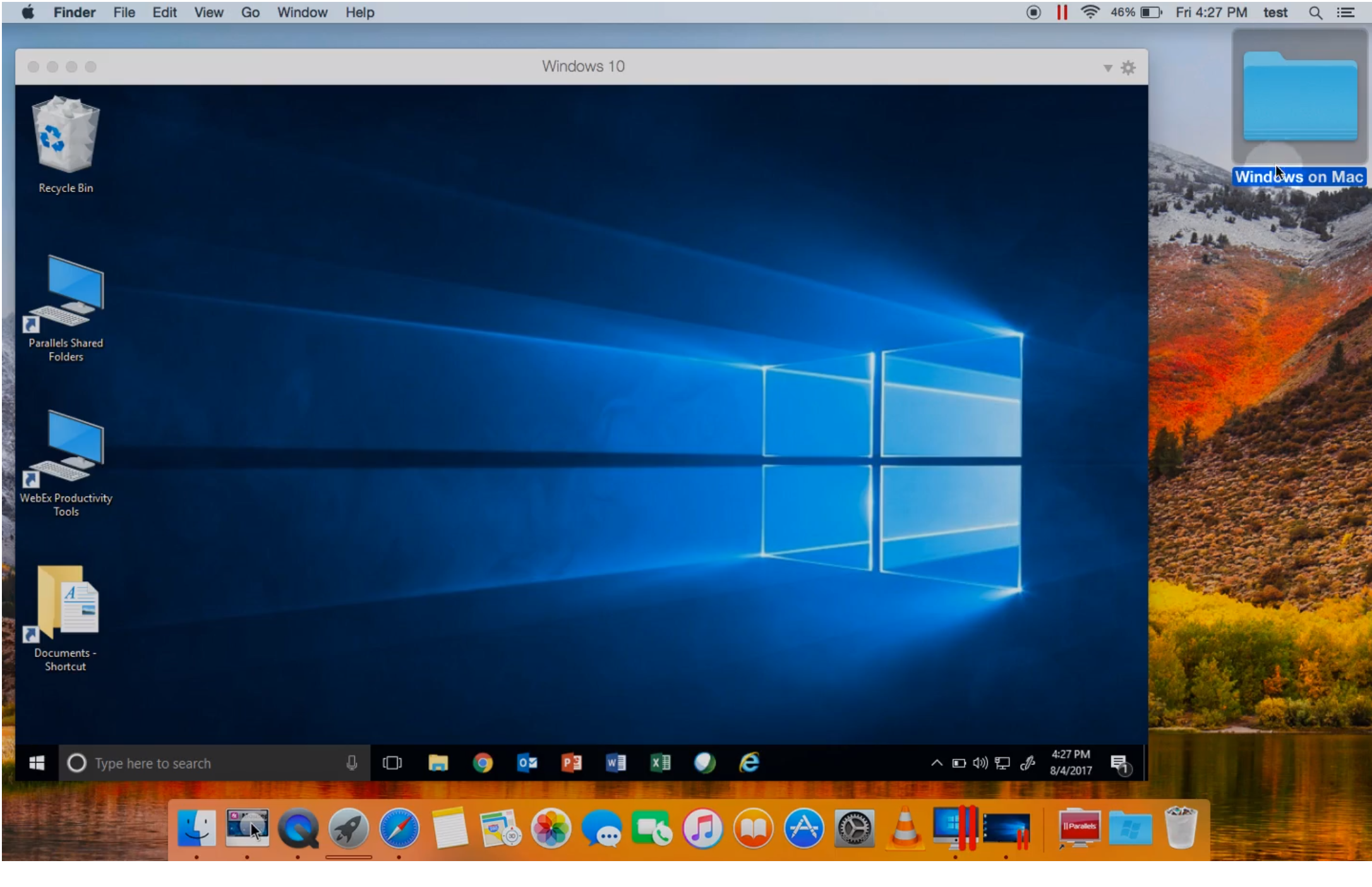 How to run windows on mac