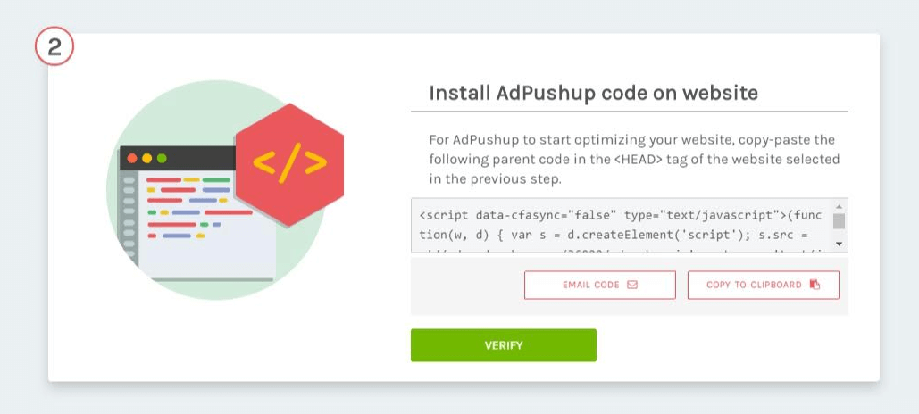 Install AdPushup Code On Website