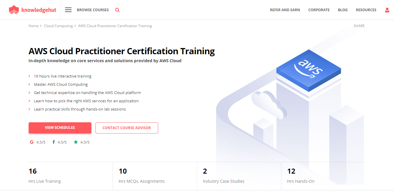 KnowledgeHut Review- AWS Certified Cloud Practitioner Training Exam CLF-C01