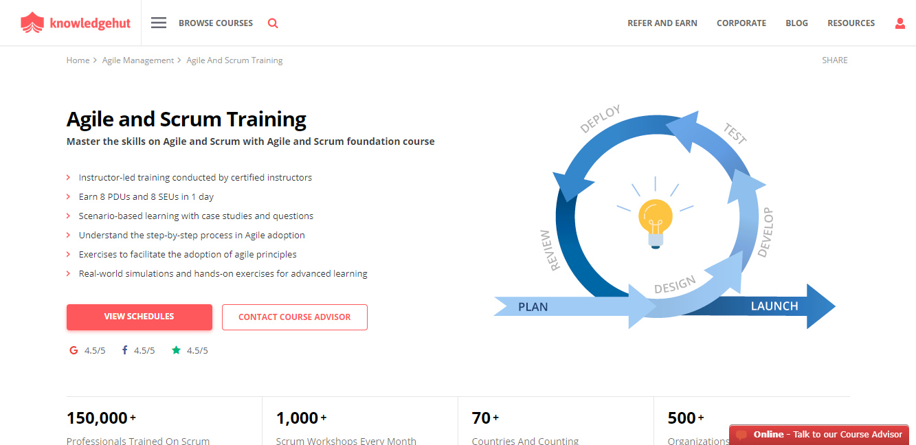KnowledgeHut Review - Agile and Scrum Certification Course