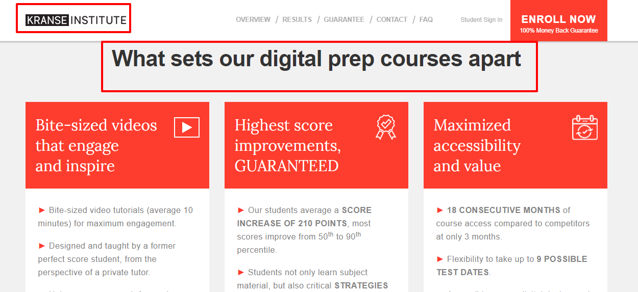 kranse Institute Review - Courses
