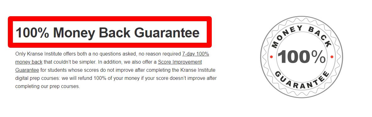 kranse Institute Review - Guarantee