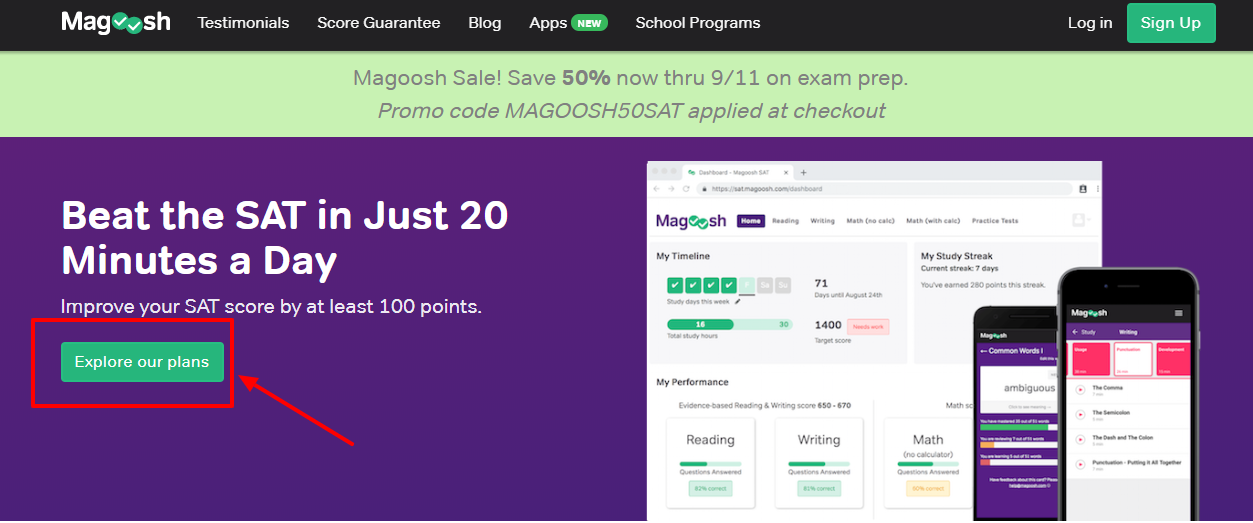 Magoosh SAT Review - info
