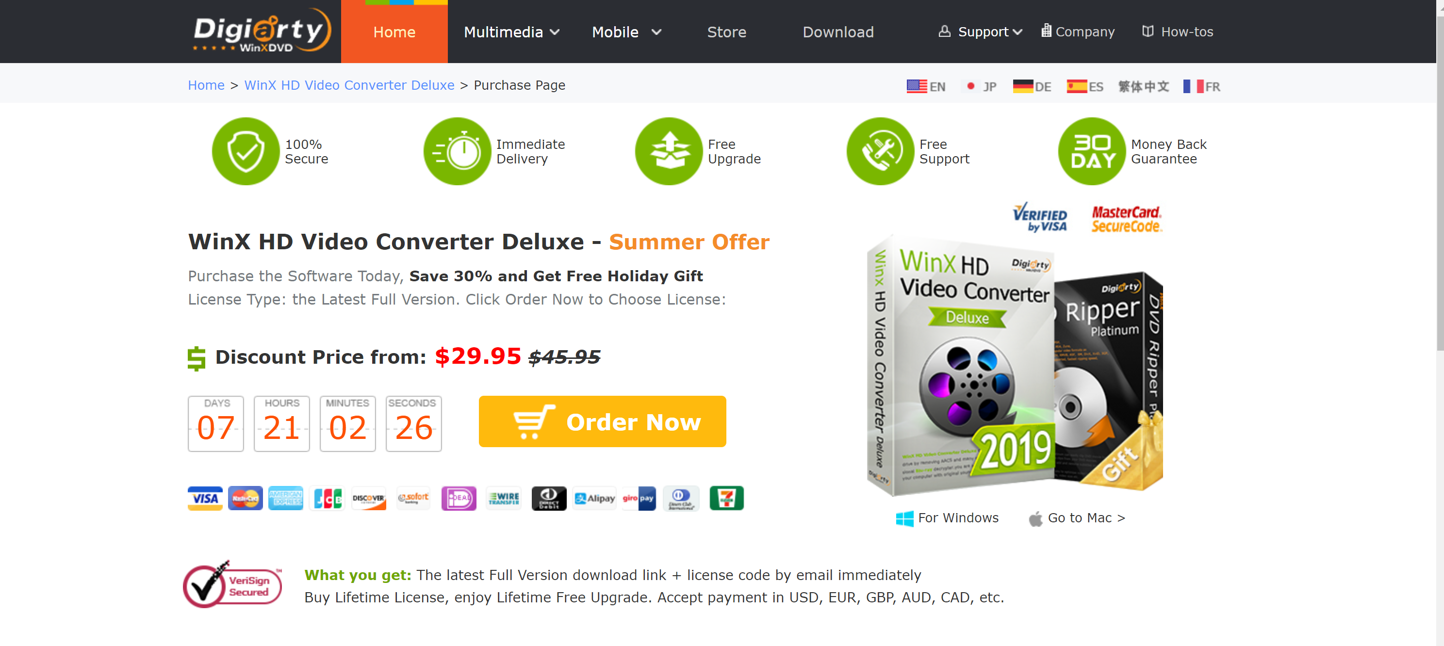 _OFFICIAL Purchase WinX HD Video Converter Deluxe Full License - Lifetime Free Upgrade