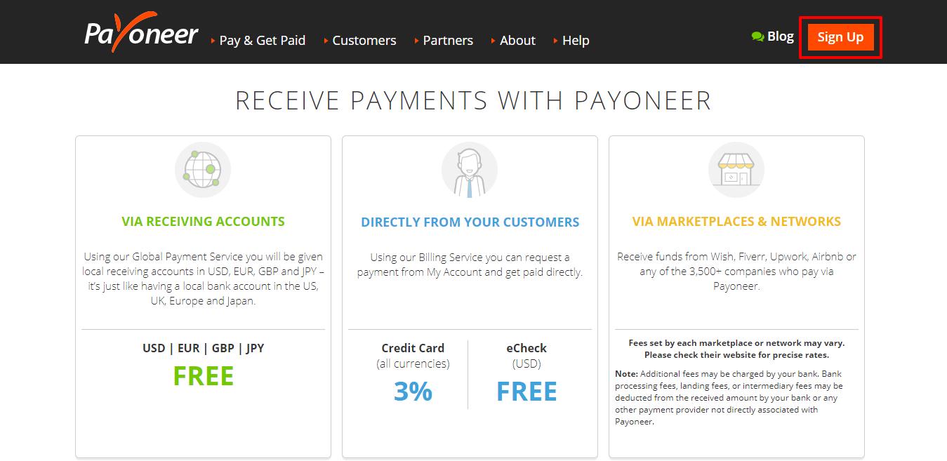 Payoneer Vs TransferWise - Payoneer Fees
