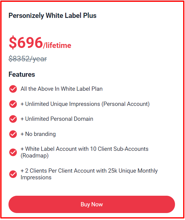 Pitchground Deals &Offers Review- Personizely Pricing Plan