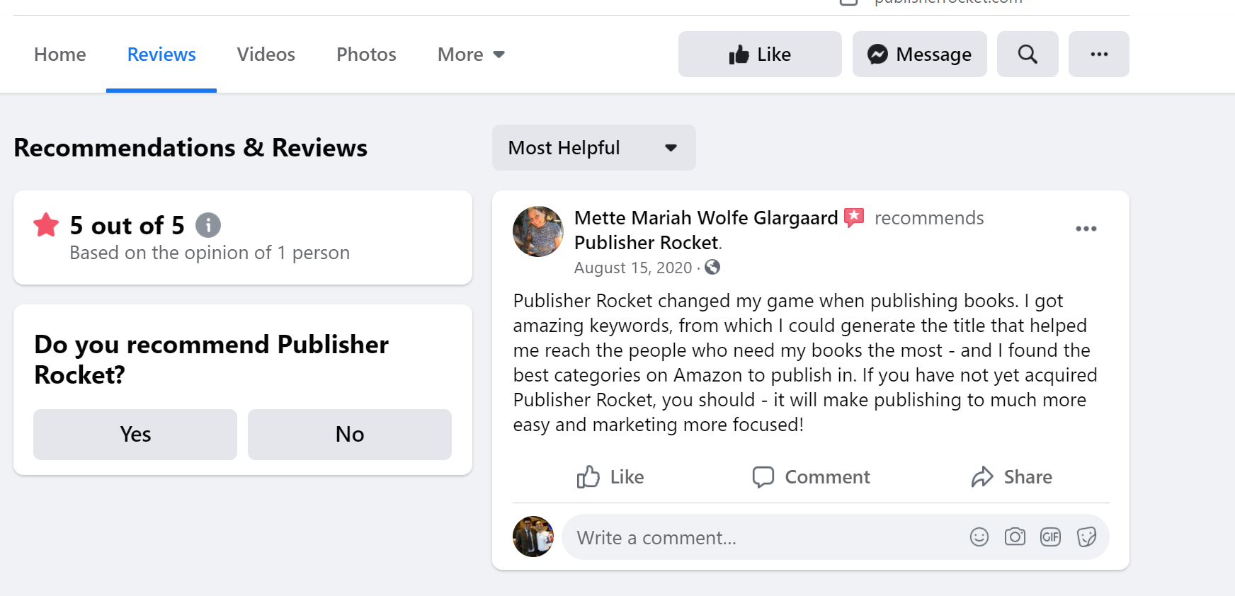 Publisher rocket reviews Kindle software
