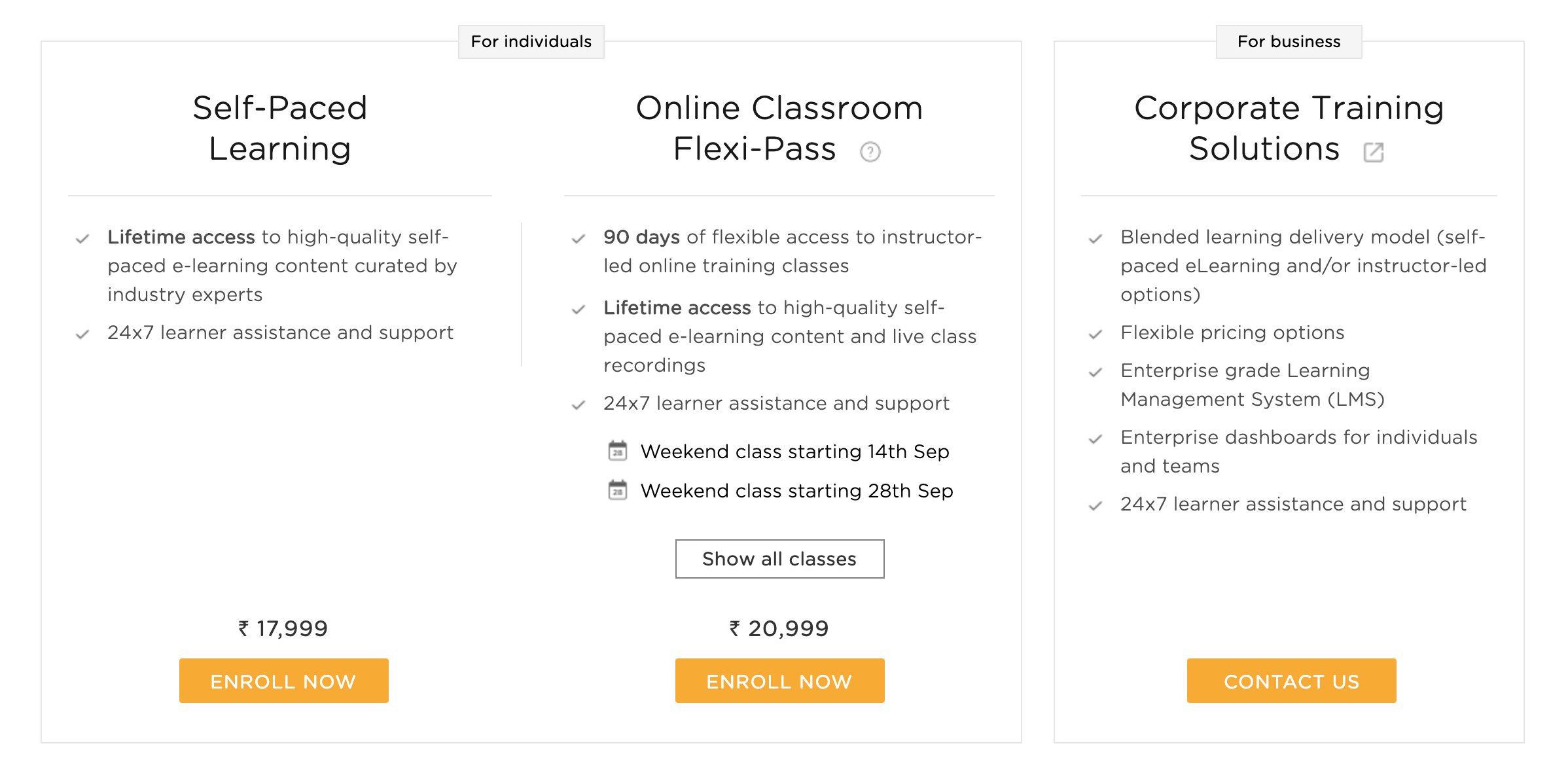 Salesforce Training Pricing