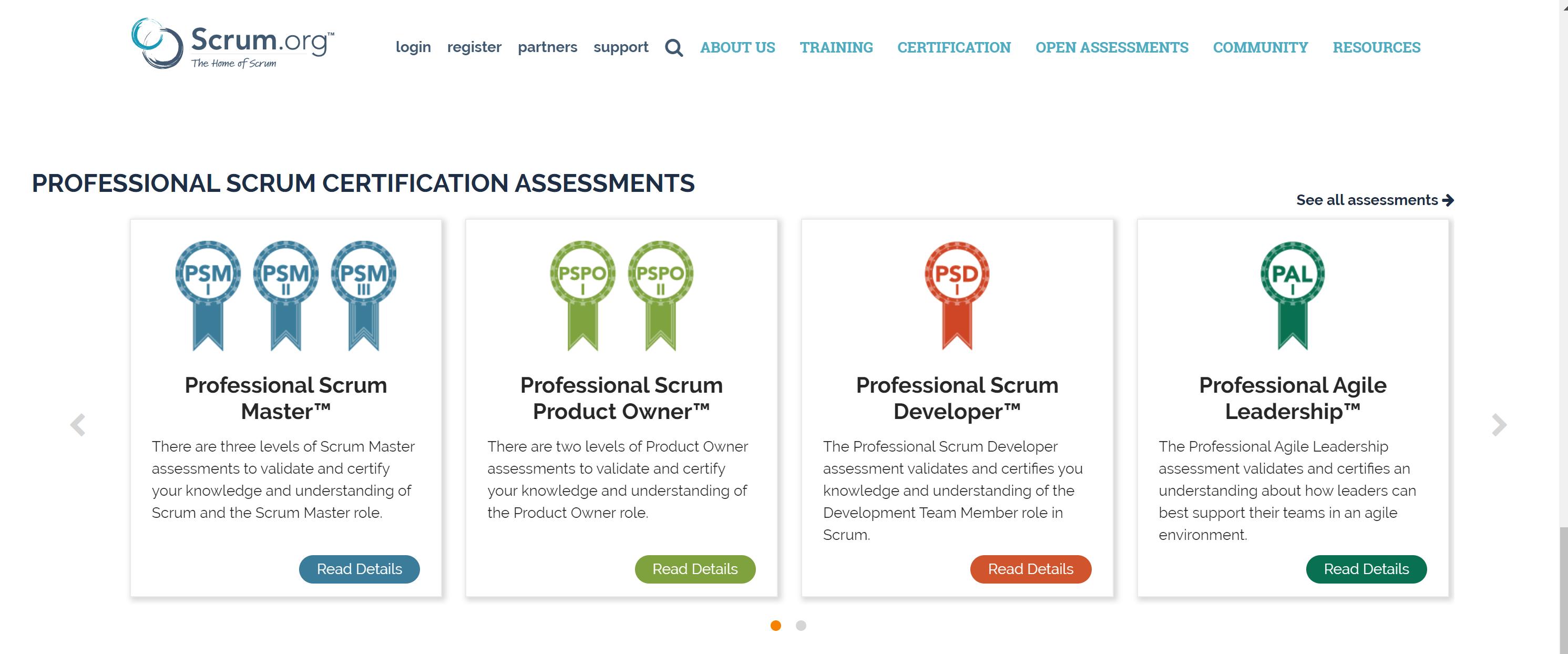 Scrum.org online agile courses
