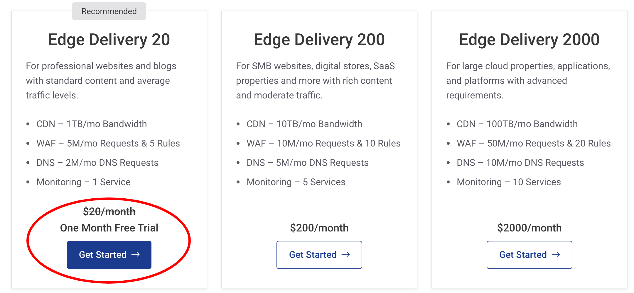 StackPath Pricing- Edge Delivery