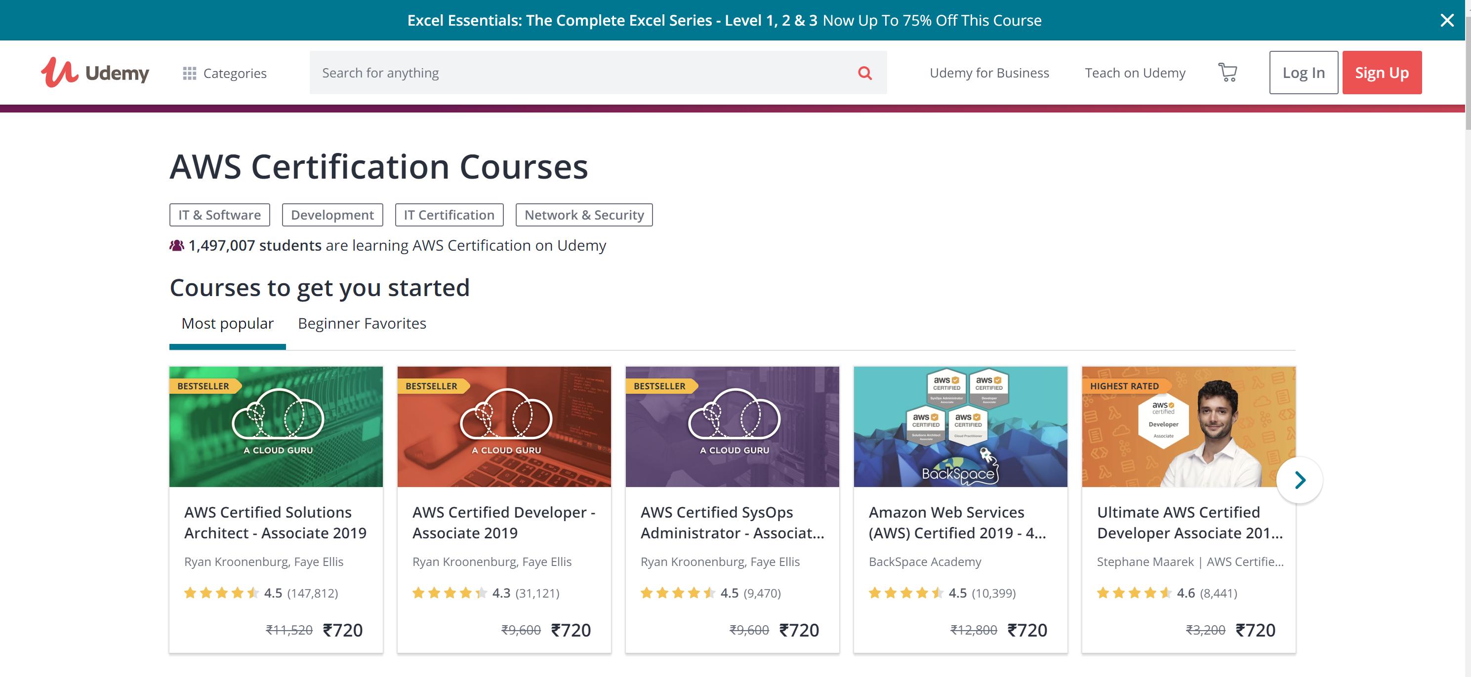 Top AWS Lambda courses