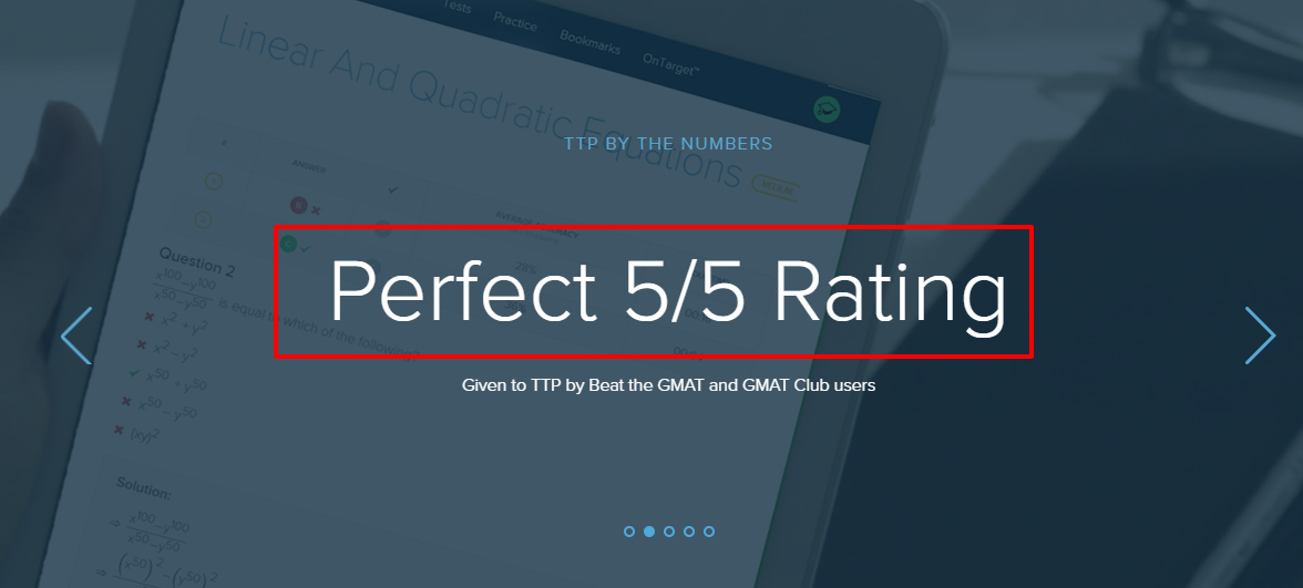 Target Test Prep Review - Rating