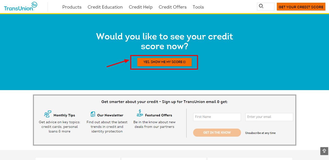 Transunion Review - Score rate