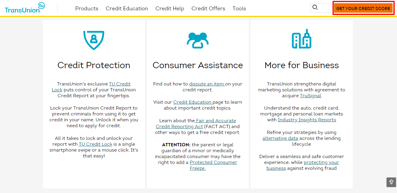 Transunion Review - protection