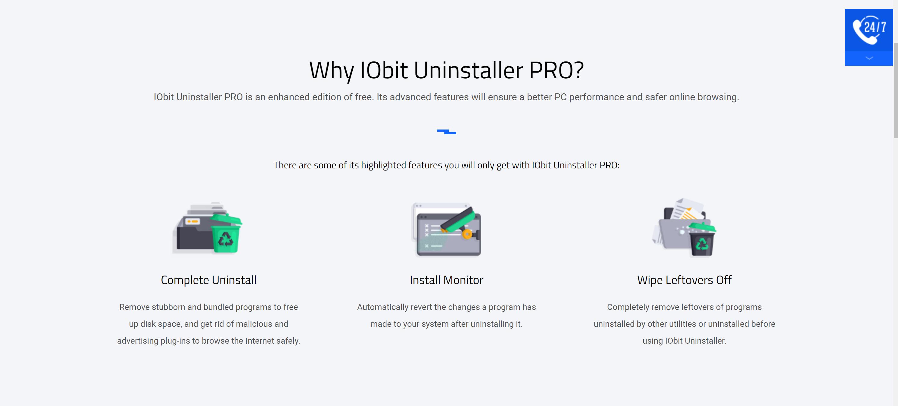 Uninstaller pro features