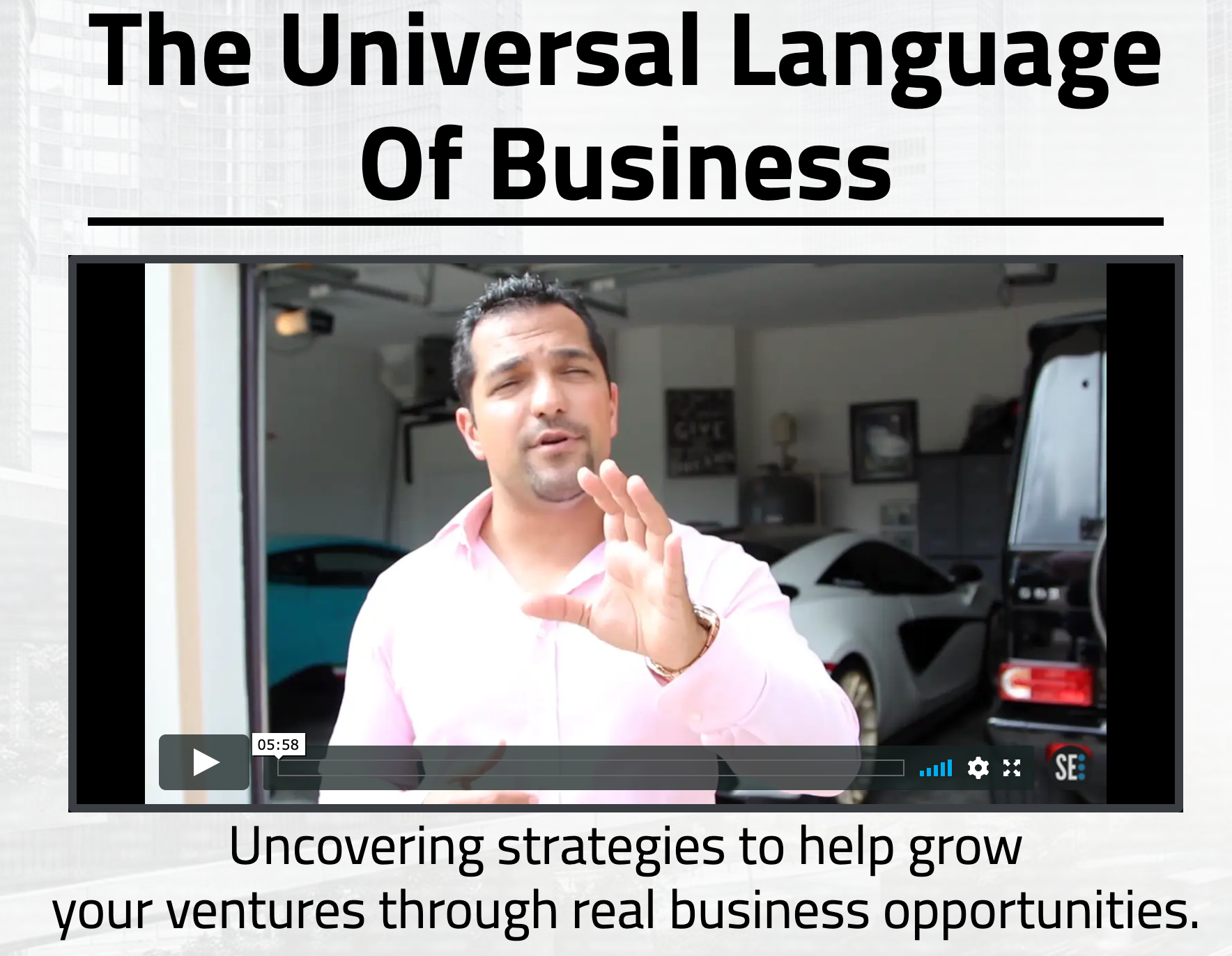 Universal Language Of Business Course – Secret Entourage