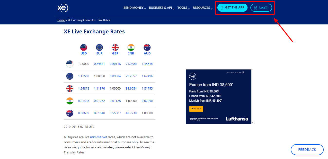 XE Currency Converter - Transferwise Vs Moneygram Vs Xemoney Vs Paypal