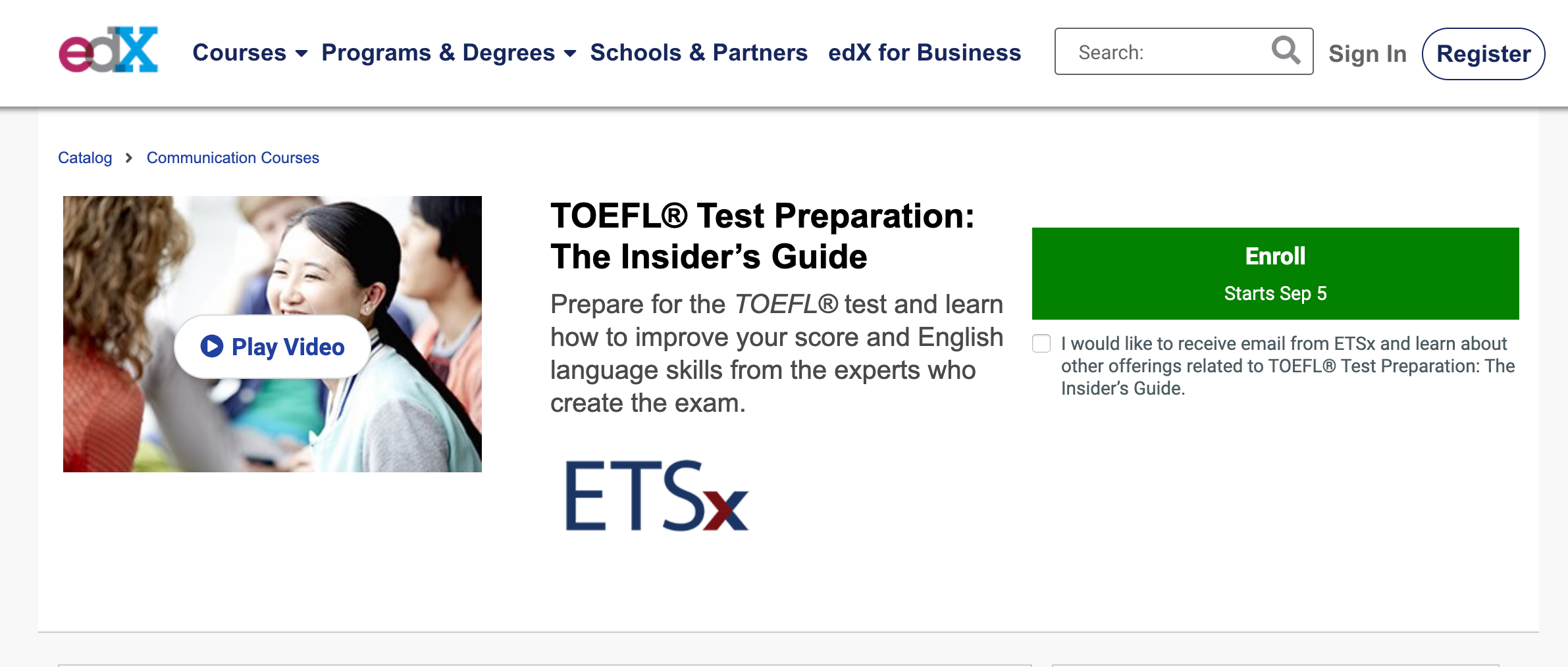 edX TOEFL- Best Place for TOEFL FREE