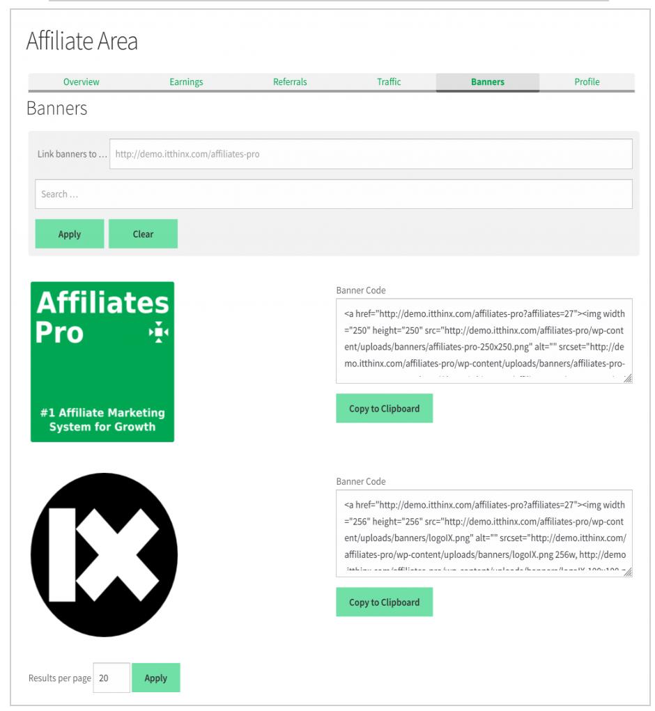 AffiliateWP vs Affiliate Pro Comparison- Banners