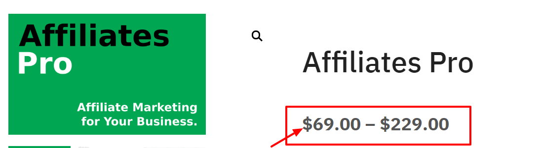 AffiliateWP vs Affiliate Pro Comparison- Pricing Plan