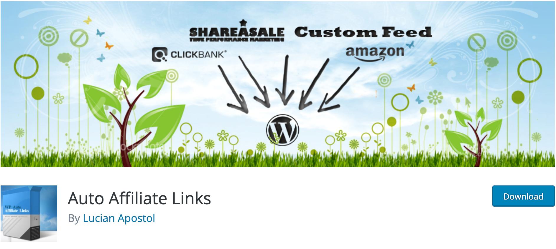 Auto Affiliate Links – Affiliate WordPress plugin WordPress org