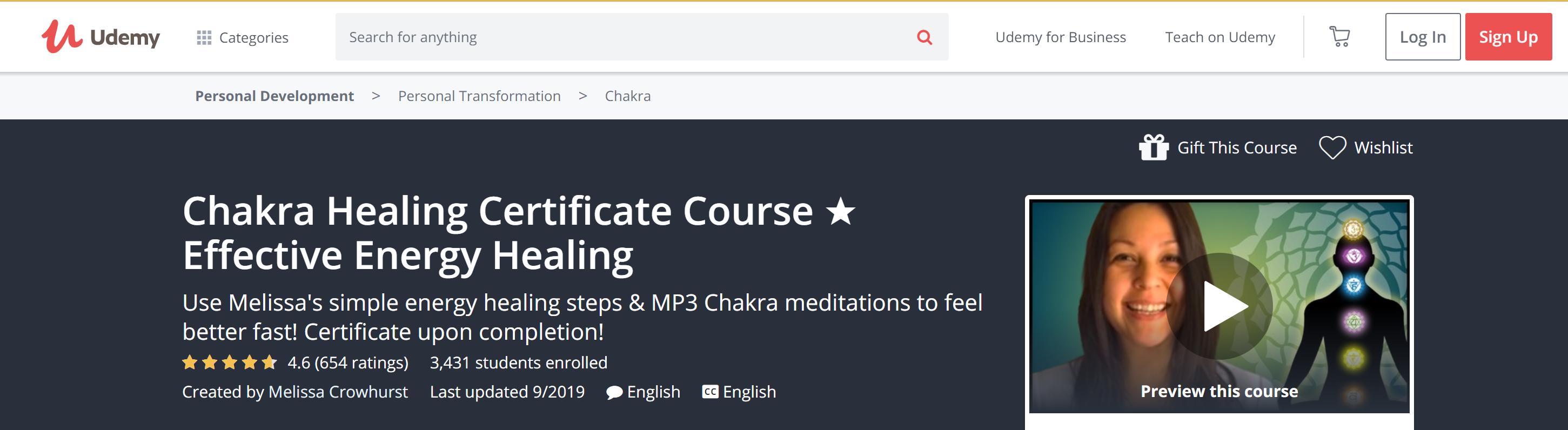 Best Chakra Healing Certificate courses