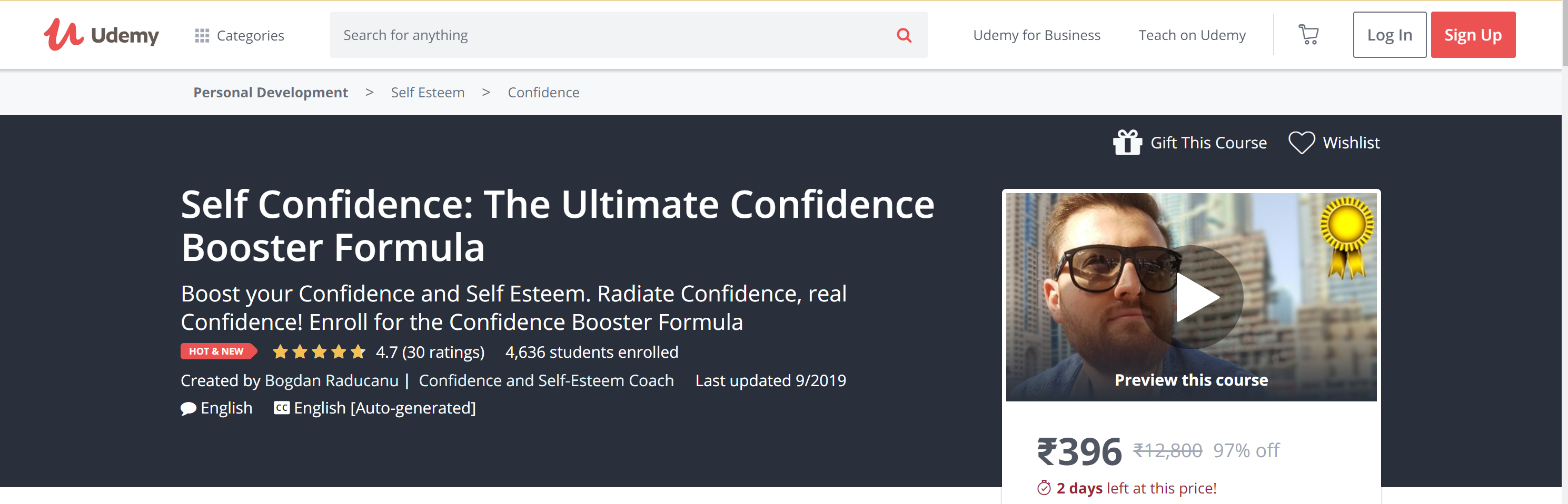 Best self confidence courses online