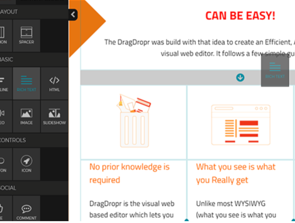 DragDropr – Visual Content Builder