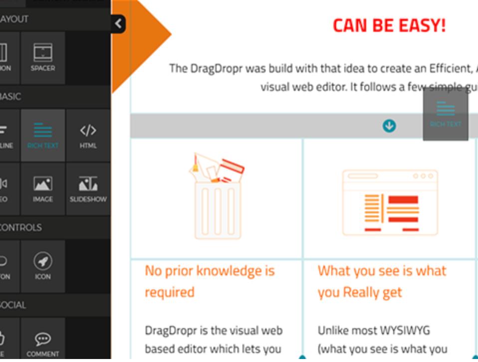DragDropr – Visual Content Builder