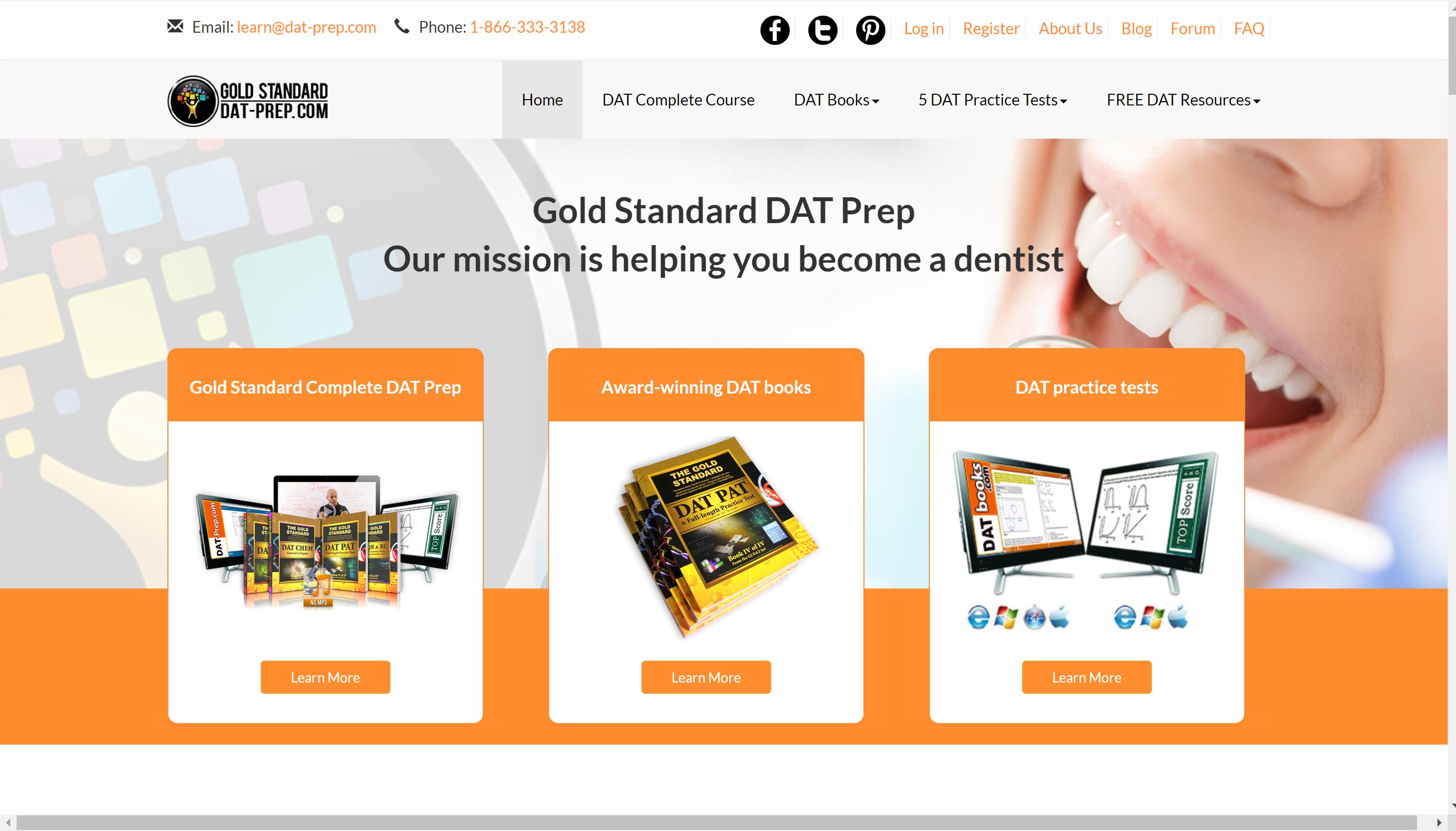 GoldStandard for DAT courses