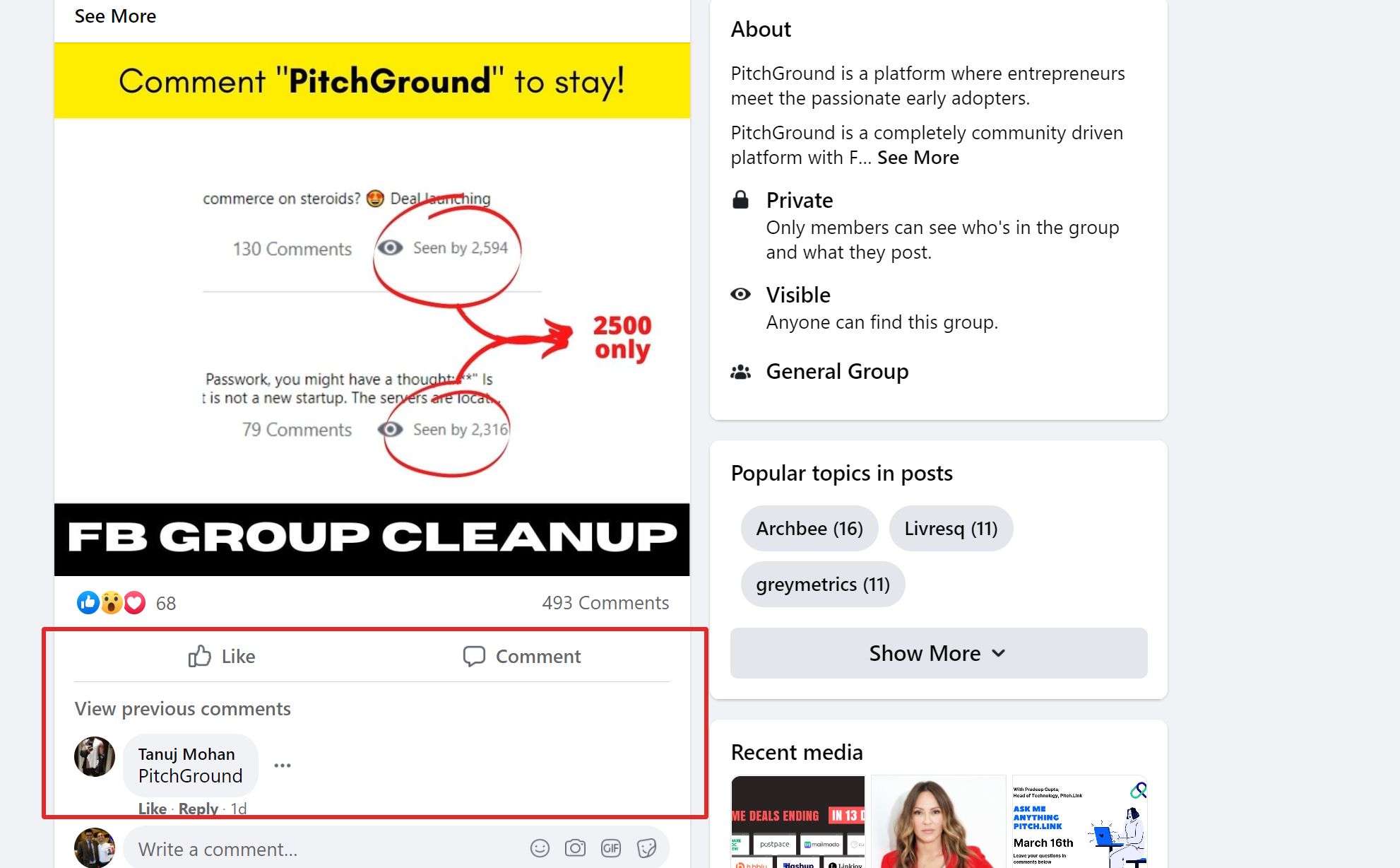 Pitchground facebook community