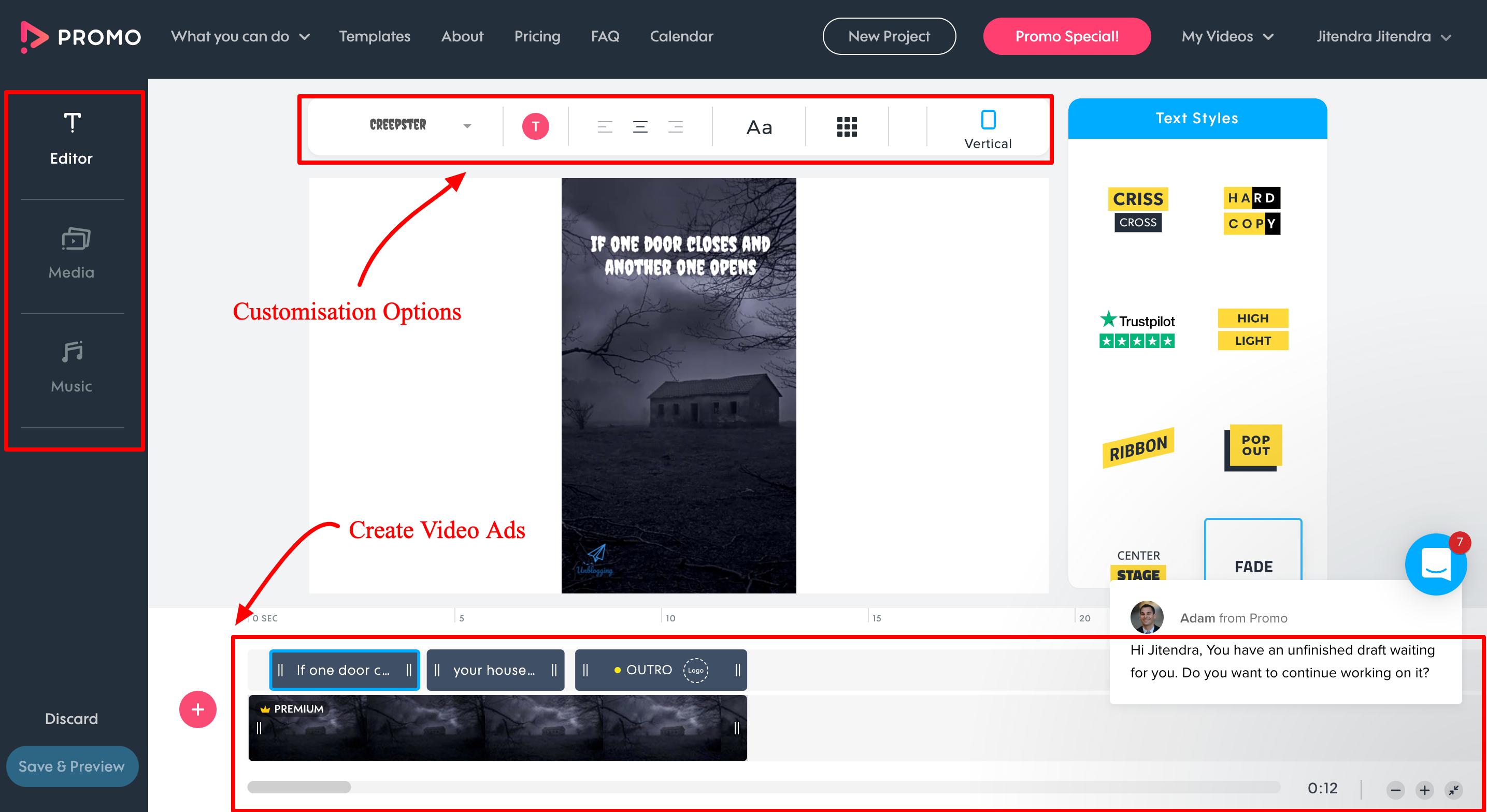 Promo.com Review- The Video Ad maker