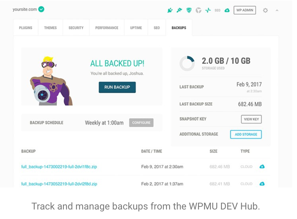 Snapshot Pro WordPress Backups