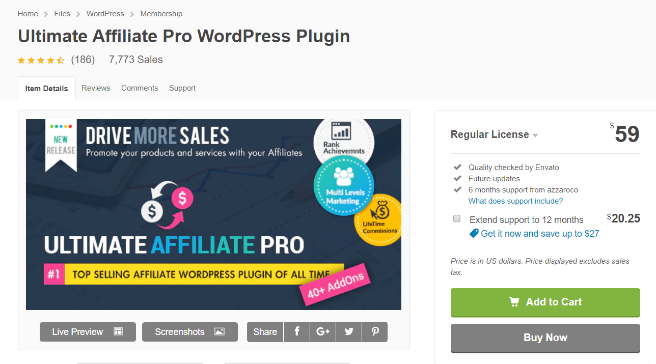 Top 10 Best Affiliate Plugins- Ultimate Affiliate Pro