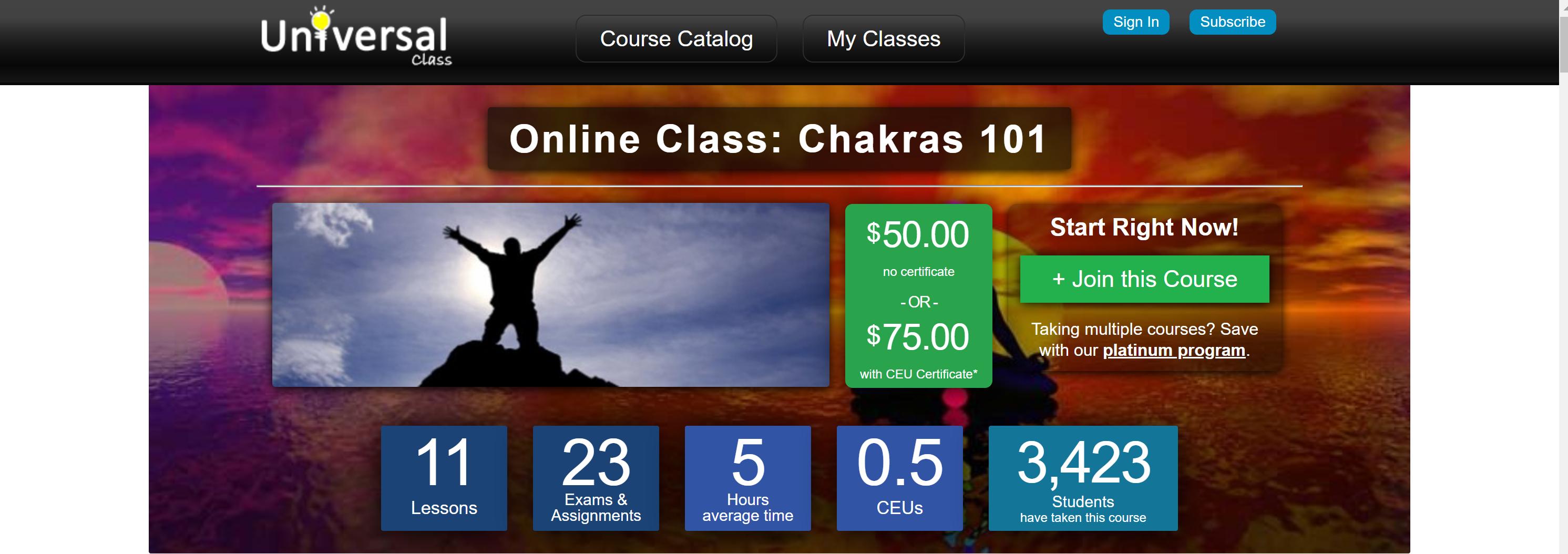Universal Classs for Chakra