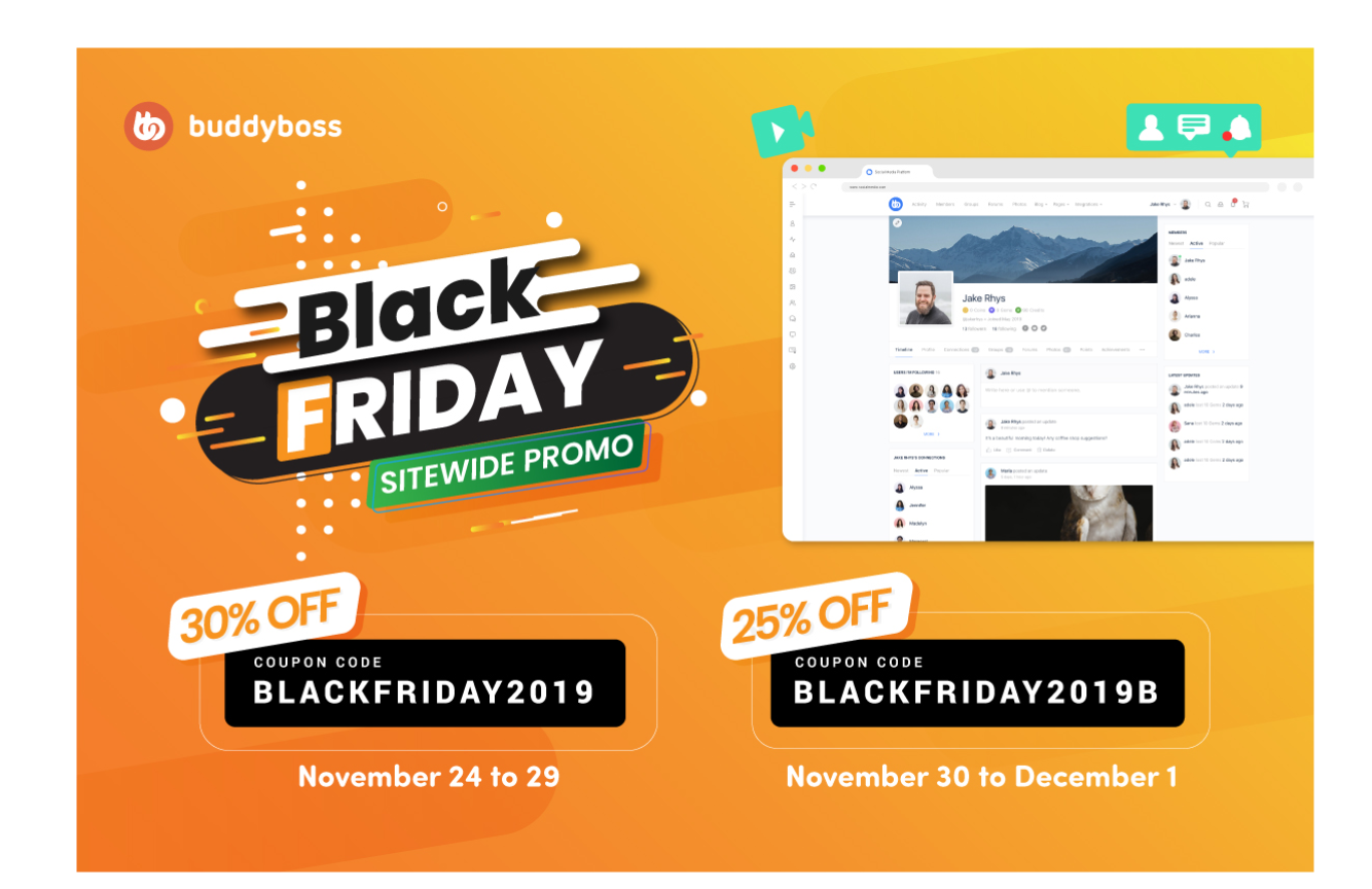 BuddyBoss BLACK FRIDAY deals