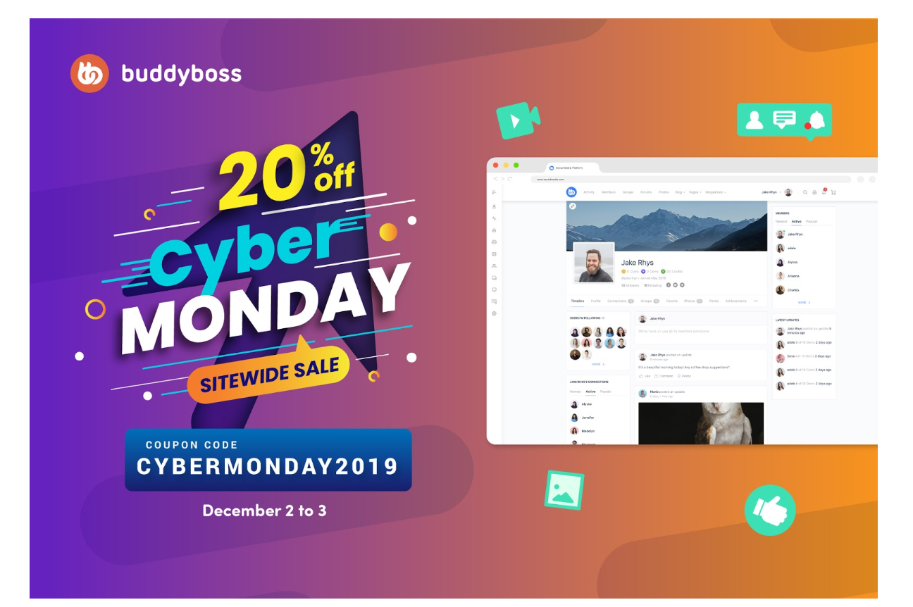 BuddyBoss CYBER MONDAY deals