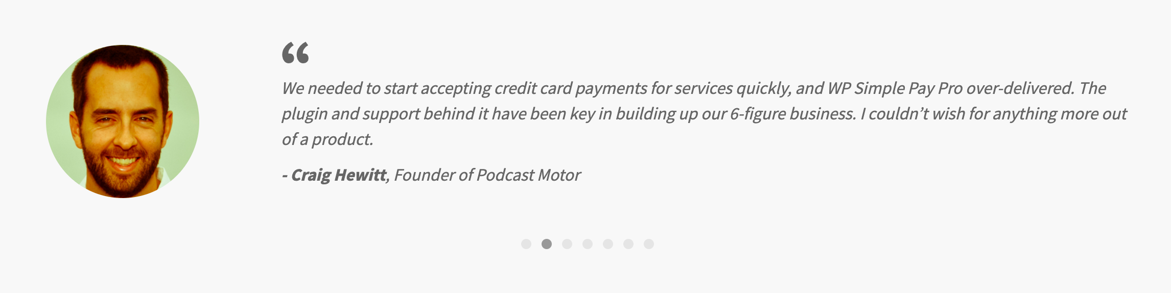 Customer Review- Wp Simple Pay